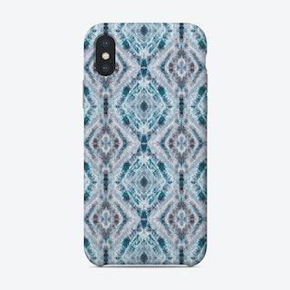 Boho Shibori Blue Phone Case