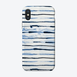 Electric Ink Lines White Phone Case