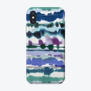 Soft Nautical Watercolor Lines Blue Phone Case