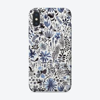 Winter Ink Flowers Phone Case