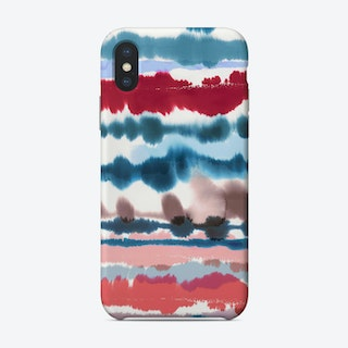 Soft Nautical Watercolor Lines Phone Case