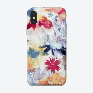 Watercolor Spring Floral Memories Multicolored Phone Case