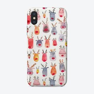 Cute Winter Reindeers Kids Phone Case