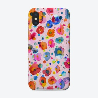 Bohemian Naive Flowers Pink Phone Case