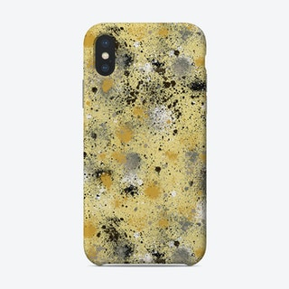Ink Dust Splatter Yellow Phone Case