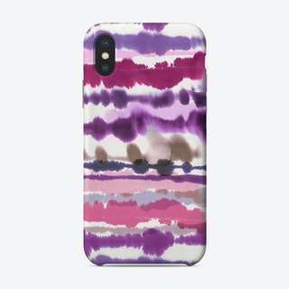 Soft Nautical Watercolor Lines Pink Phone Case