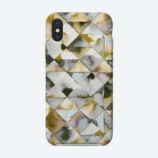 Moody Triangles Gold Silver Phone Case
