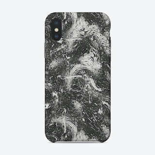 Abstract Dripping Painting Black White Phone Case