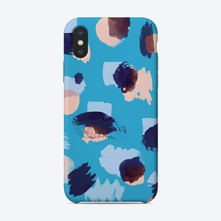Abstract Stains Blue Phone Case