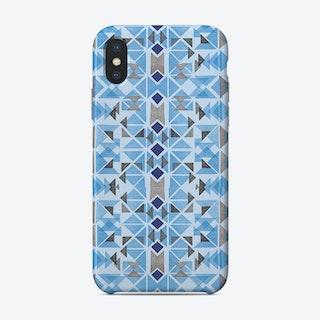 Boho Nomadic Tribal Blue Phone Case
