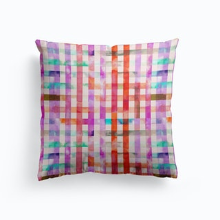 Gingham Vichy Pink Cushion