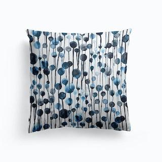 Dripping Dots Navy Cushion