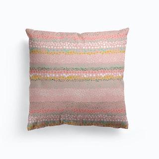 Little Textured Minimal Dots Pink Cushion