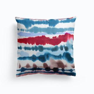 Soft Nautical Watercolor Lines Cushion