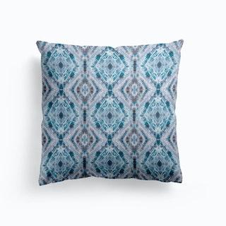 Boho Shibori Blue Cushion