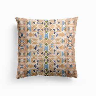 Boho Nomadic Tribal Orange Cushion
