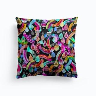 Rainbow Lace Neon Kids Cushion