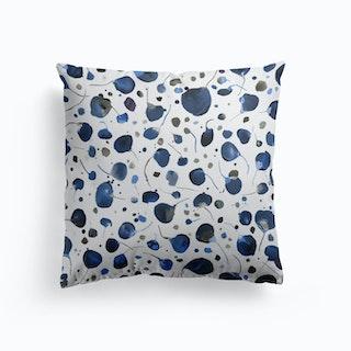 Flying Seeds Blue Cushion