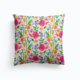 Happy Spring Flowers Cushion