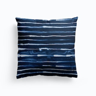 Electric Ink Lines Navy Cushion