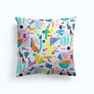 Geometric Collage Pop Cushion