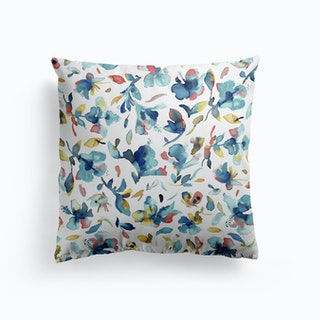 Loose Pink Floral Cushion By Lauradidthis Fy