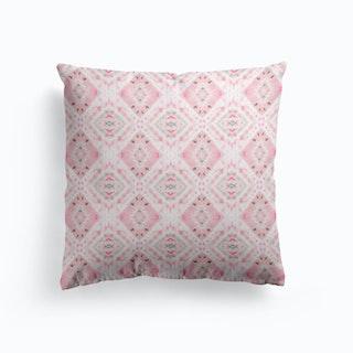Boho Shibori Pink Cushion