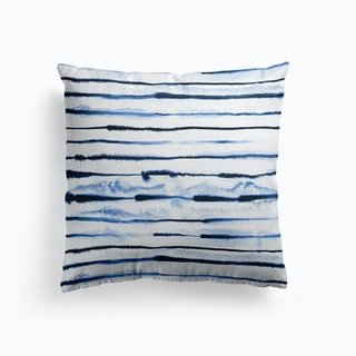 Electric Ink Lines White Cushion