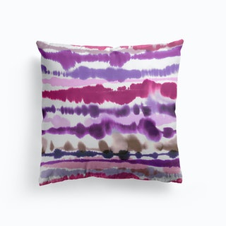 Soft Nautical Watercolor Lines Pink Cushion