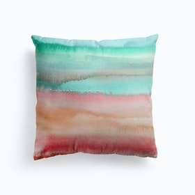 Gradient Watercolor Melon Cushion