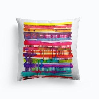 Irregular Watercolor Lines Cushion