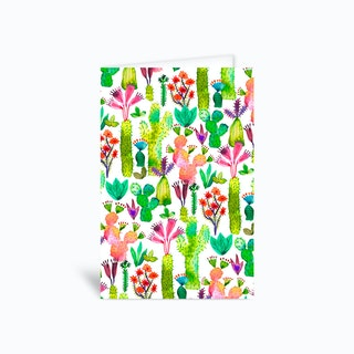 Cacti Garden Greetings Card