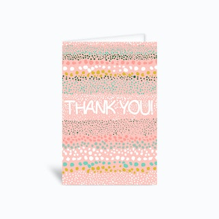 Thank You Little Dots Greetings Card