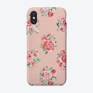 Sweet Roses Blooms Sweet Pink Phone Case