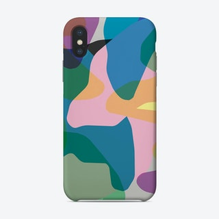 Abstract Camouflage Pink Green Phone Case