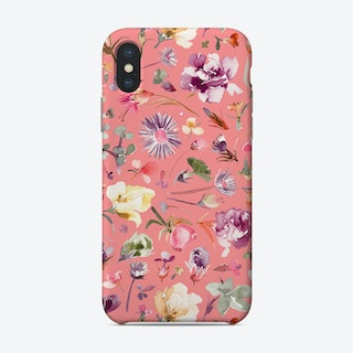 Flower Buds Coral Pink Phone Case