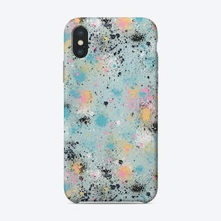 Ink Splatter Dust Blue Pastel Phone Case
