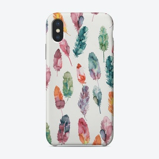 Watercolor Boho Feathers Phone Case