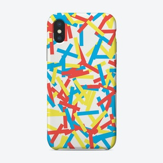 Confetti Party Red Yellow Blue Phone Case