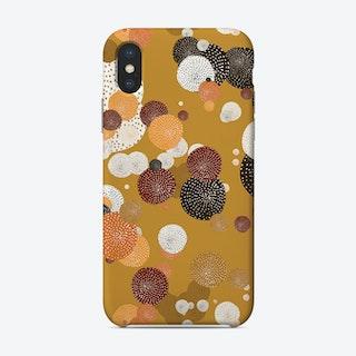 Oriental Circle Textures Mustard 2 Phone Case