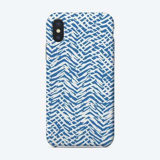 Marks Texture Blue Phone Case