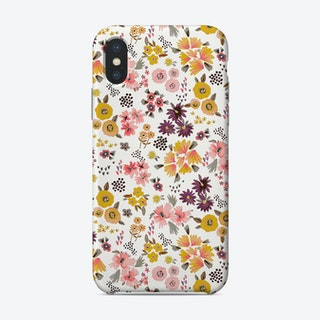 Little Flowers Mustard Coral Phone Case