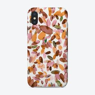 Watercolor Petal Stains Orange Phone Case