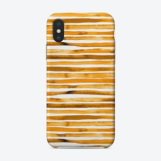 Watercolor Stripes Yellow Phone Case