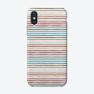 Marker Stripes Colorful Red Blue Phone Case