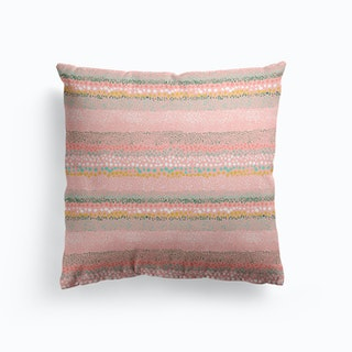 Little Textured Dots Pink Cushion