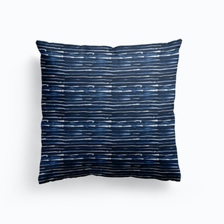 Electric Lines Navy Cushion