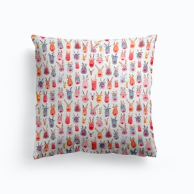 Cute Winter Reindeers Cushion