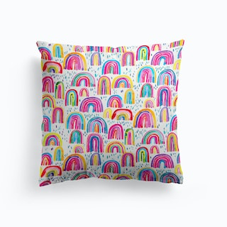 Cute Watercolor Rainbows Cushion