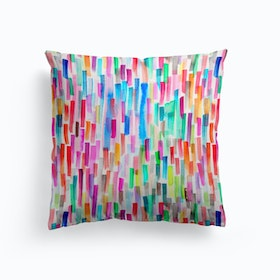 Colorful Brushstrokes Multicolored Cushion